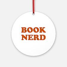 Book Nerd Round Ornament