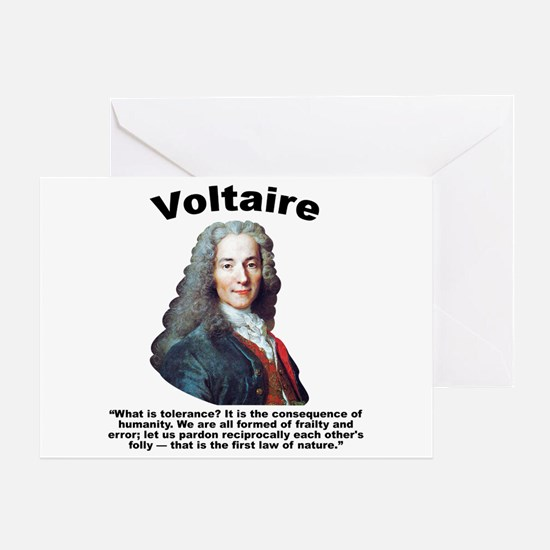 Voltaire Tolerance Greeting Card
