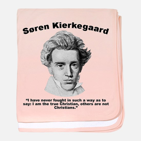 Kierkegaard Christian baby blanket