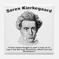 Kierkegaard Christian Tile Coaster