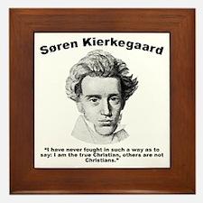 Kierkegaard Christian Framed Tile
