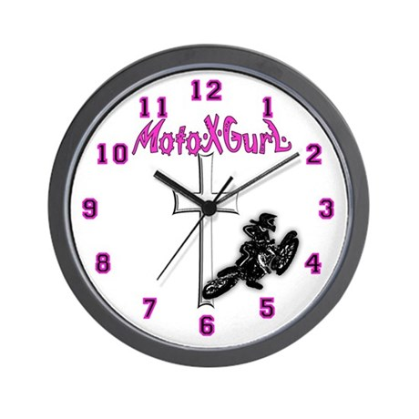 Moto X Gurl Motocross Wall Clock