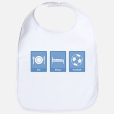 Eat Sleep Football Bib