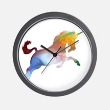 Abstract colorful Unicorn silhouette Wall Clock