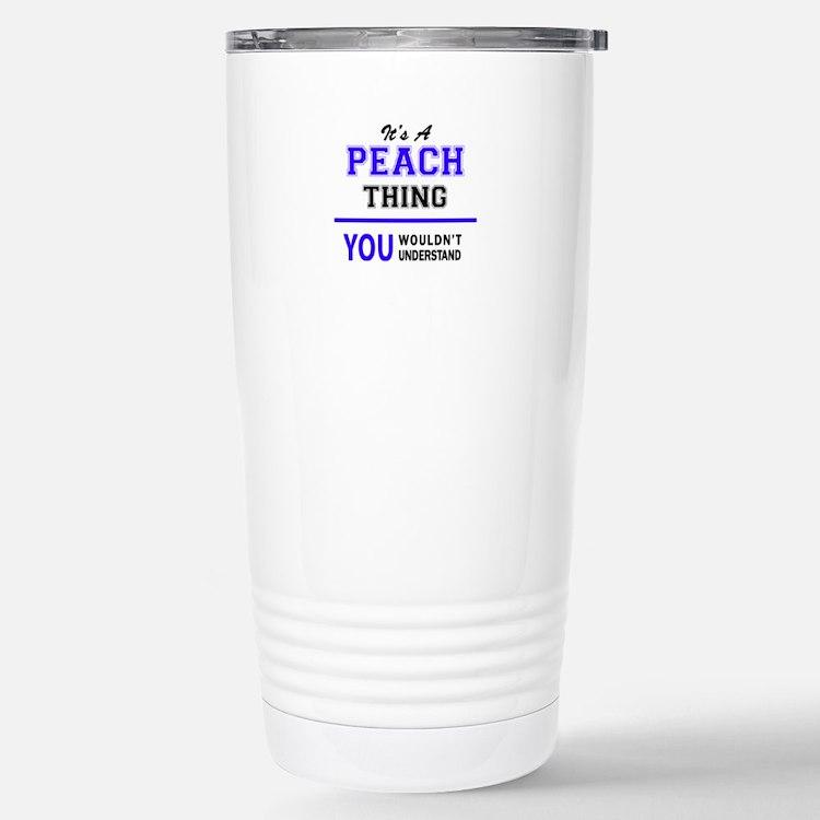 Cute Peach Travel Mug