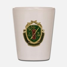 Military Police Crest Shot Glass