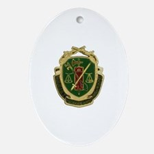Military Police Crest Oval Ornament