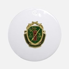 Military Police Crest Round Ornament