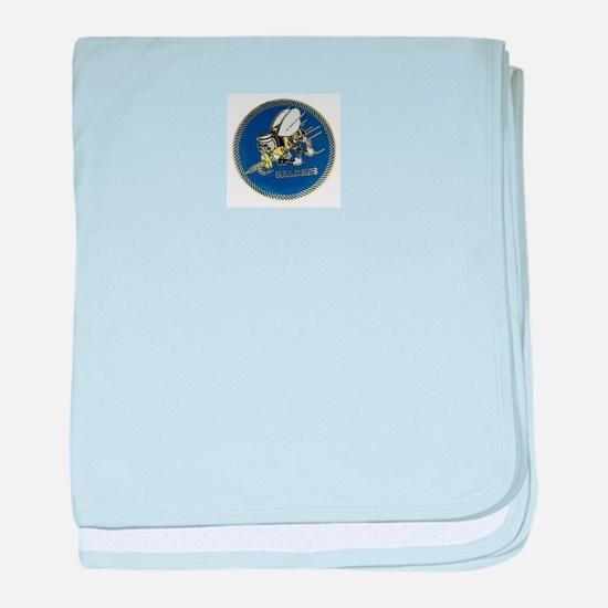 Seabees baby blanket