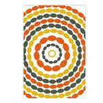 Mustard & Orange Mod Postcards (Package of 8)