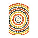 Mustard & Orange Mod Mini Poster Print