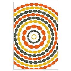 Mustard & Orange Mod Posters