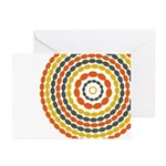 Mustard & Orange Mod Greeting Cards (Pk of 20)