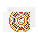 Mustard & Orange Mod Greeting Cards (Pk of 10)