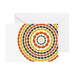 Mustard & Orange Mod Greeting Card