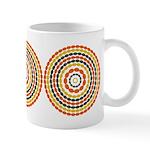 Mustard & Orange Mod Ceramic Coffee Mug