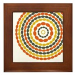 Mustard & Orange Mod Framed Tile