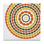 Mustard & Orange Mod Tile Drink Coaster