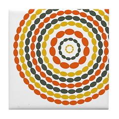 Mustard & Orange Mod Tile Drink Coaster