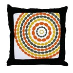 Mustard & Orange Mod Throw Pillow