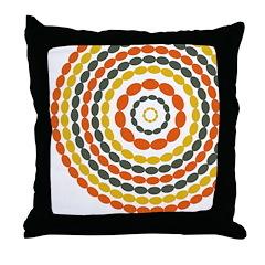 Mustard & Orange Mod Throw Pillow