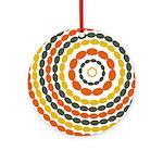 Mustard & Orange Mod Ornament (Round)