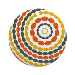 Mustard & Orange Mod Ornament (Round)