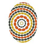 Mustard & Orange Mod Oval Ornament