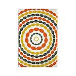 Mustard & Orange Mod Rectangle Magnet (10 pack)