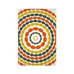 Mustard & Orange Mod Rectangle Magnet (100 pack)