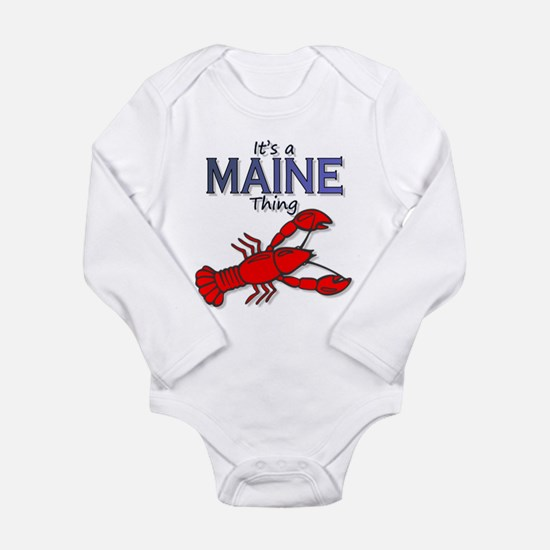 Cute Lobster maine Long Sleeve Infant Bodysuit