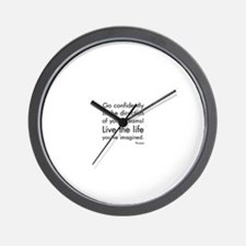 Go Confidently Wall Clock