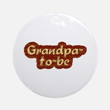 Grandpa-to-be Ornament (Round)