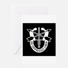 US Army Special Forces SF Green Ber Greeting Cards