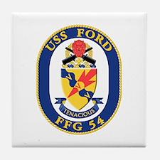 USS Ford (FFG-54) Tile Coaster