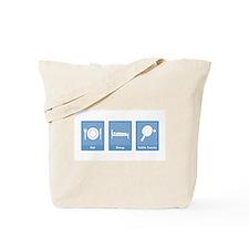 Eat Sleep Table Tennis Tote Bag