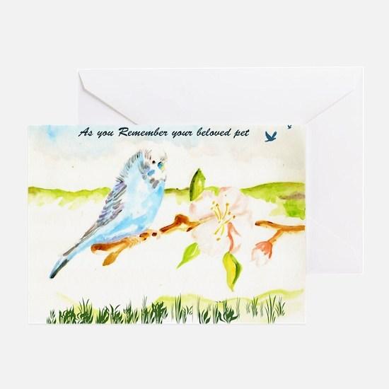 BUDGIE Sympathy Greeting Card