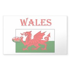 Wales Rugby Rectangle Decal