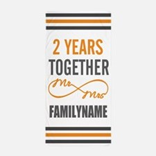 Gift For 2nd Wedding Anniversary Perso Beach Towel