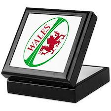 Welsh Rugby Ball Keepsake Box