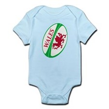 Welsh Rugby Ball Infant Bodysuit