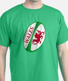 Wales Rugby Ball T-Shirt