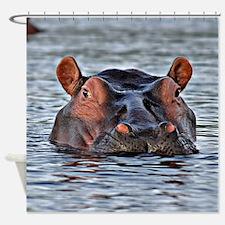 Cute Hippopotamus Shower Curtain