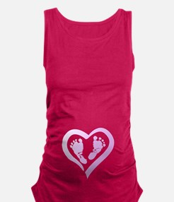 Baby Prints in Heart by LH Maternity Tank Top