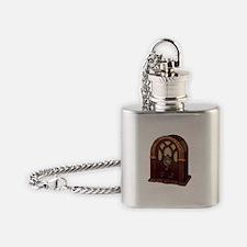 Old School Radio Flask Necklace
