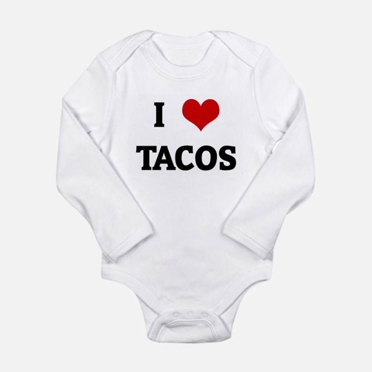 Cute Tacos Long Sleeve Infant Bodysuit