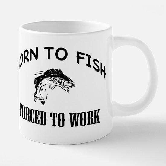 BORN TO FISH Mugs