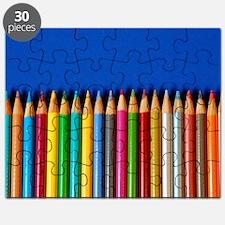 Colorful pencil crayons Puzzle