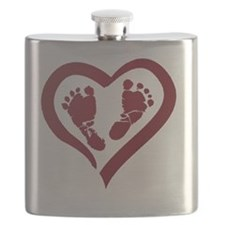 Baby Prints in Heart by LH Flask