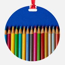 Colorful pencil crayons Ornament
